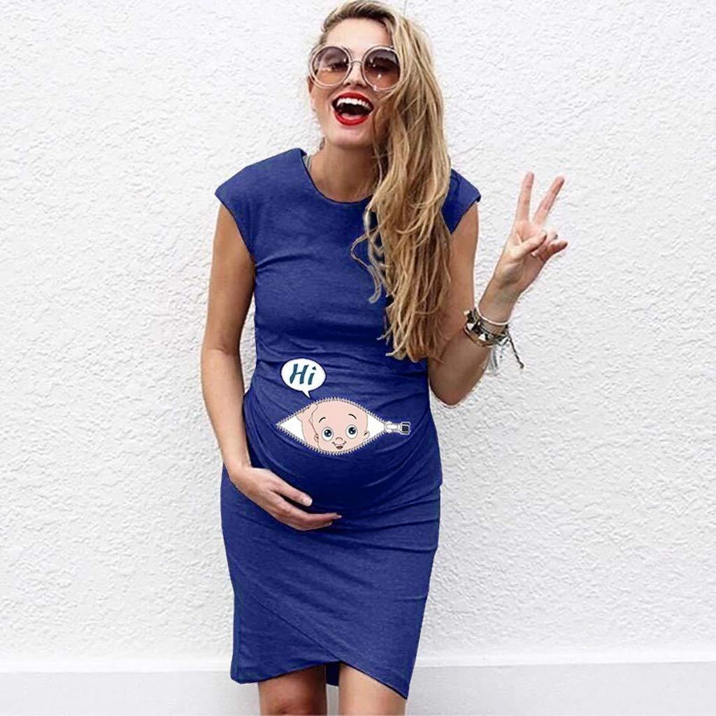 HCFKJ Womans Clothes Maternity Dress Ladys Pregnancy Off Shoulder Floral Dress Maternity Ladys Sundress Clothes