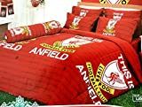 Liverpool Football Club Official Licensed Bedding Set, Bed Sheet, Pillow Case, Bolster Case, Comforter, Gift Guide, Gift Ideas LV1 (Set A+1, Twin Size)