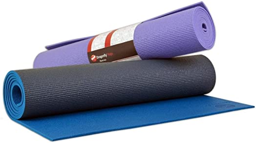 Dragonfly Yoga High Performance Non Slip Extra Thick Pure Yoga Mat – Slate Blue