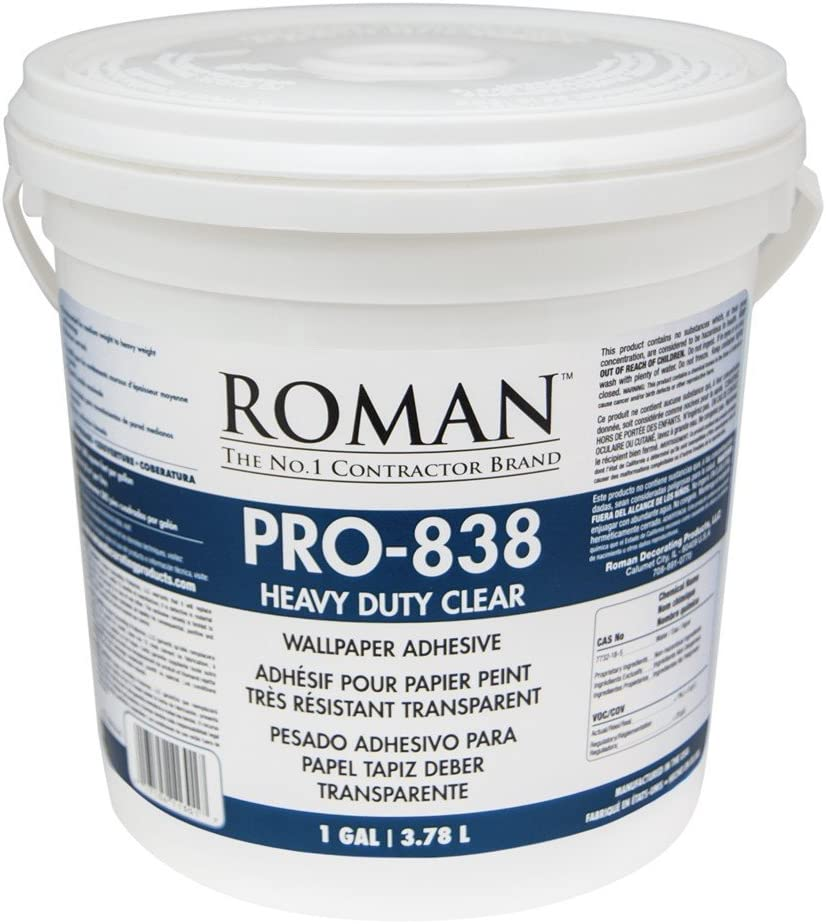 Roman 011301 Pro 838 1 Gal Heavy Duty Wallpaper Adhesive Clear