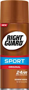 Right Guard Sport Deodorant Aerosol Spray, Original, 8.5 Ounce