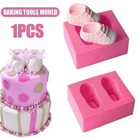 Funihut Molde de Silicona líquido de Zapatos de bebé Herramientas de Horno de Galletas Molde