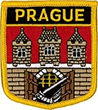 Prague (City of) Shield Embroidered Patch 7cm x 6cm