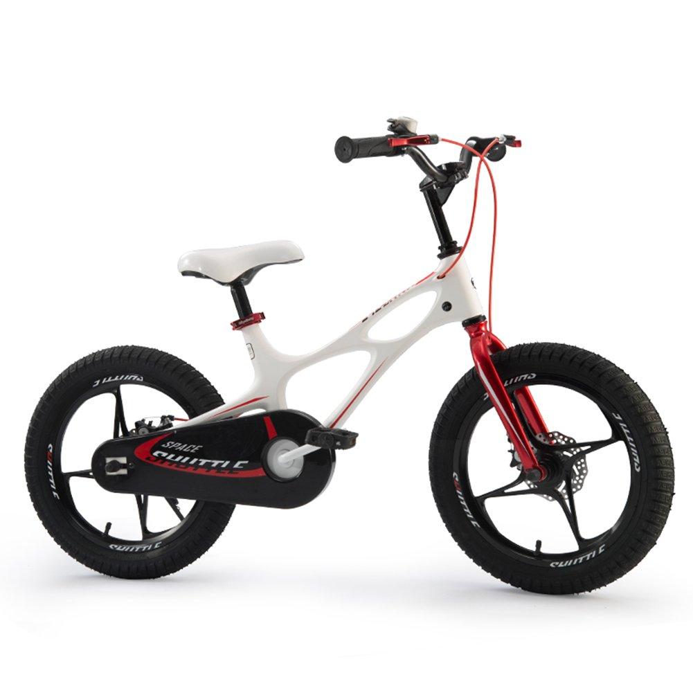 XQ 子供の自転車14/16インチの男の子と女の子の赤ちゃんキャリッジ自転車3-16歳のマグネシウム合金 子ども用自転車 ( サイズ さいず : White-14inch ) B07CCGPNT4White-14inch