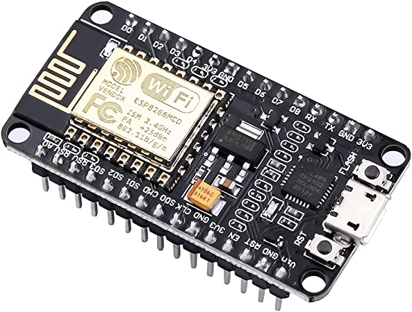 Image of IZOKEE NodeMCU Lua Módulo ESP8266 ESP-12E Placa de Desarrollo Internet WiFi con Chip CP2102 Compatible con Arduino IDE (1 x NodeMCU Lua)
