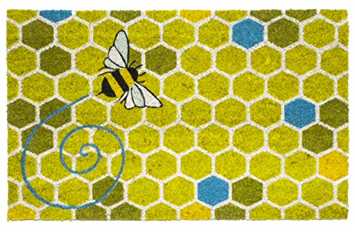Bee India Honey (Entryways Honeycomb Non- Slip Coconut Fiber Doormat 17