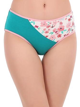 8b7d939ce28f Clovia Women's Cotton Mid Waist Floral Print Hipster Panty: Amazon ...