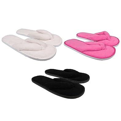 fda58b936fa Ozabi - Tongs Chaussons en éponge Femme Lot de 3  Amazon.fr  Chaussures et  Sacs