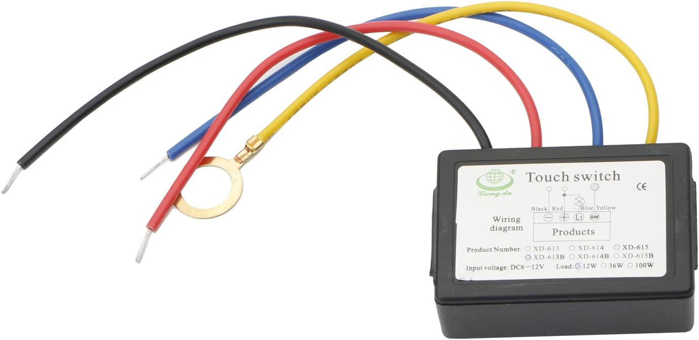 Xd-613b 12v Led 4 Mode Touch Switch for Metal Body of the LED Light Source  - - Amazon.comAmazon.com