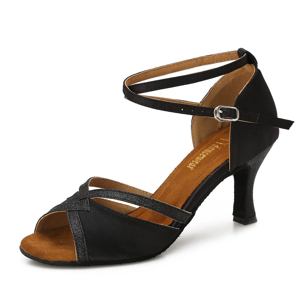 [TTdancewear] レディース DS888 B07BWM7WP6 7 B(M) US|Black-2.5inch Heels Black-2.5inch Heels 7 B(M) US