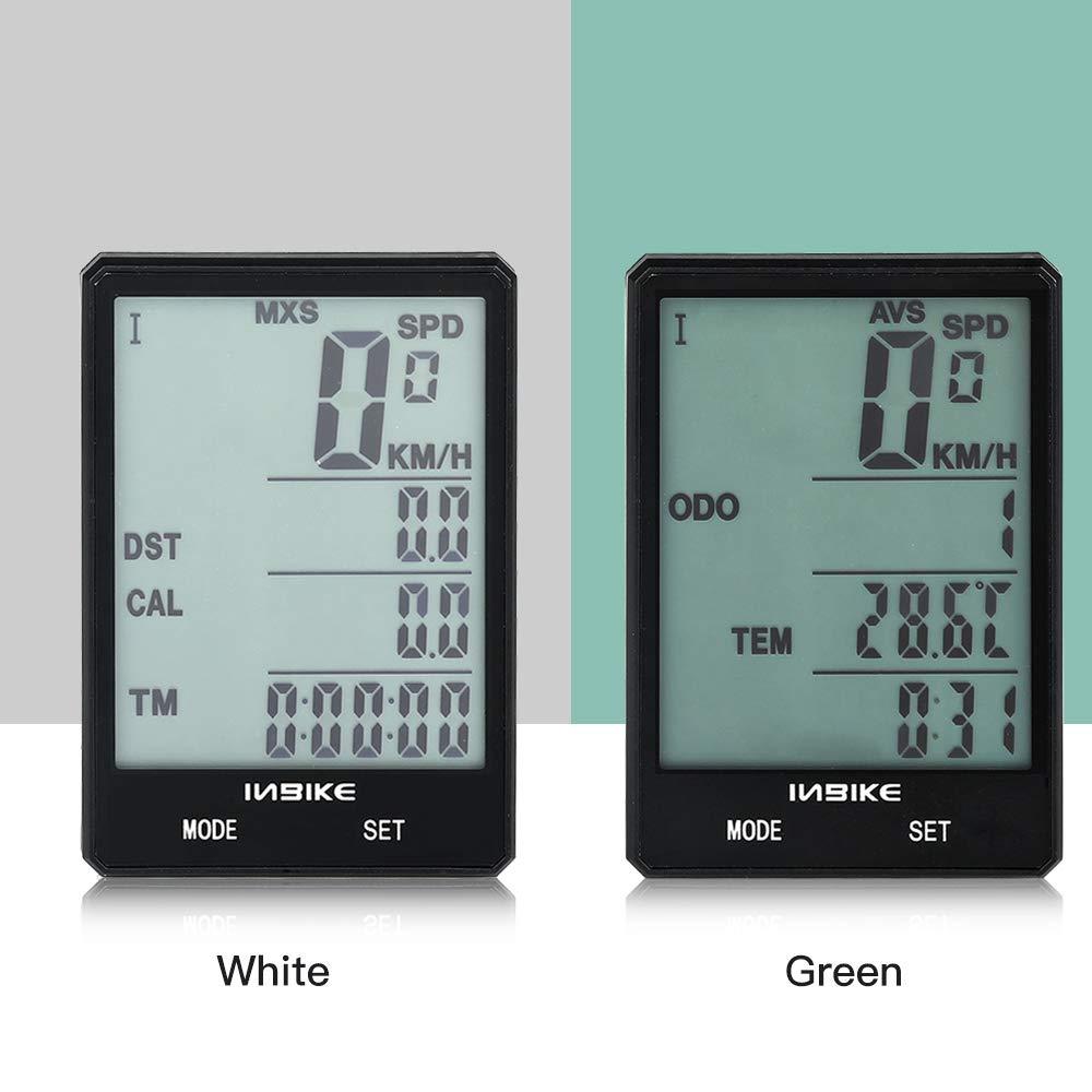 Lepeuxi Contachilometri per Bicicletta Senza Fili Tachimetro Computer Display LCD Impermeabile da 2,8 Pollici retroilluminazione Contachilometri per Computer Senza Fili Multifunzione per Bici