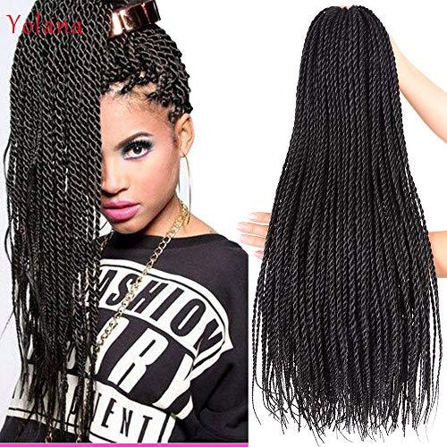 Synthetic Hair Senegalese Twist Crochet Braids Hair 6Pcs/Lot 95g/Pc 24