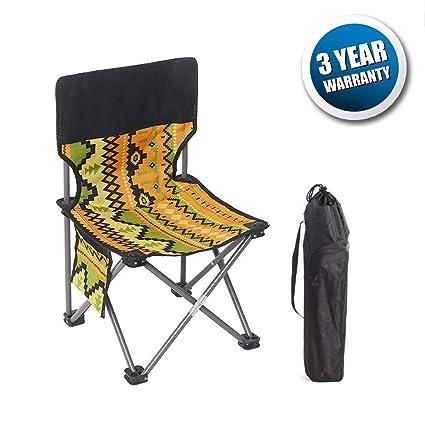 Amazon.com: Silla de camping plegable de gran tamaño, silla ...