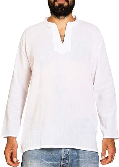 Panasiam - Camiseta de manga corta muy fina de algodón suave y sin ...