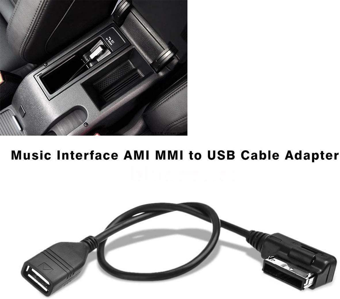 CHELINK Audi AMI MMI USB Cable Audio MP3 Music Interface Adapter Connect Music Storage Device with USB Connector for Audi VW Jetta GTI GLI Passat CC Tiguan Touareg EOS
