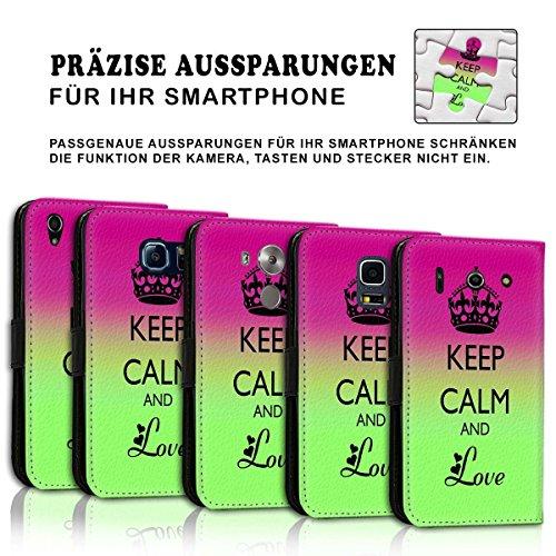 Wallet Book Style Flip Handy Tasche Case Schutz Hülle Schale Motiv Etui für Apple iPhone 6 / 6S - Design Flip MVD325
