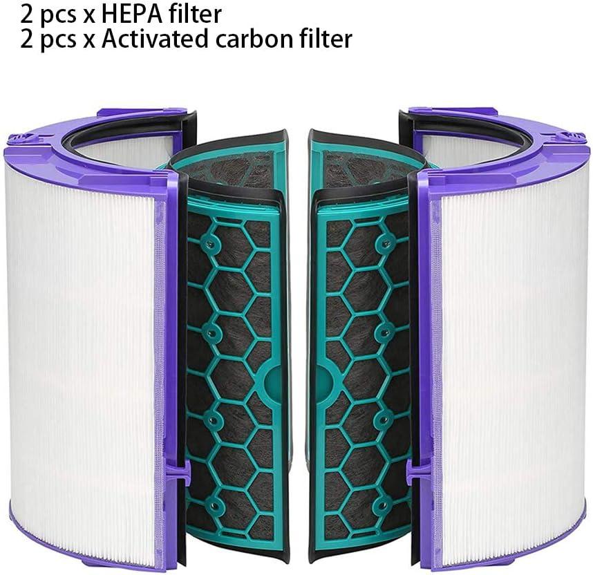 Juego de 4 filtros HEPA de doble capa con filtro de carbón ...