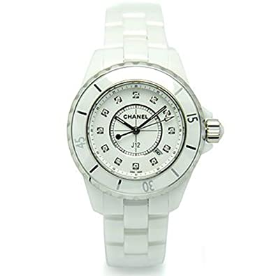 65f2ccf2ef45 [シャネル] 時計 CHANEL 腕時計 レディース J12 H1628 33MM 12Pダイヤモンド ホワイトセラミック ウォッチシリアル