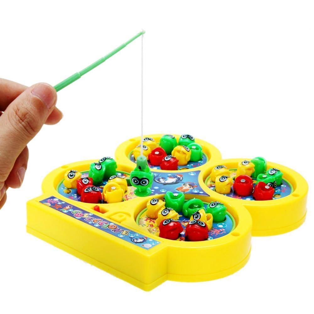 Xinnyuan Random Color Hot Game Kids Magnetic Bait Electronic Fishing Toy Muscial