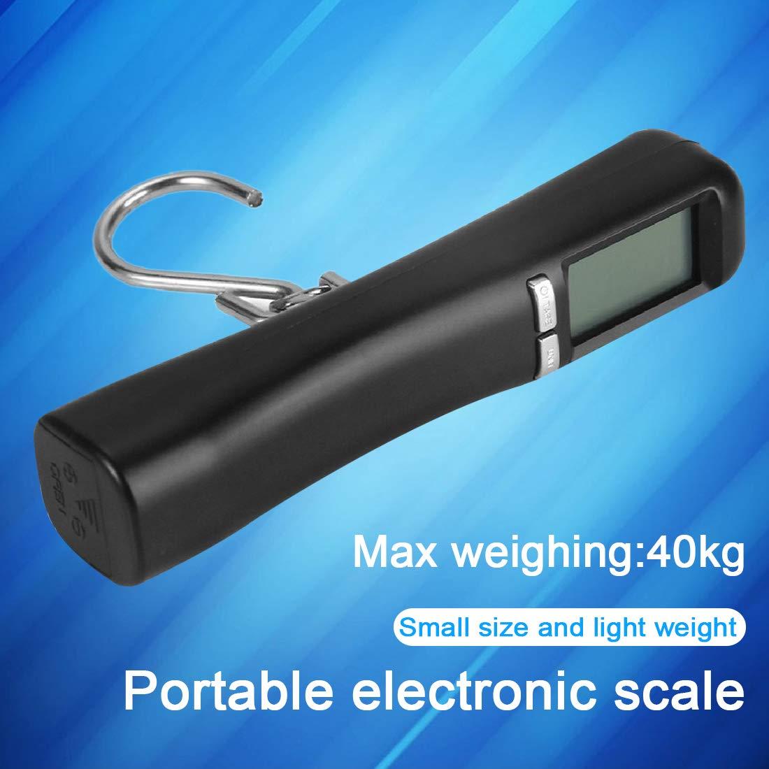LCD Retroiluminada 40Kg Maleta de equipaje port/átil de viaje Peso de la balanza Escala de gancho de pesaje digital
