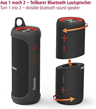 Hama Soundcup-D 20 W Stereo Portable Speaker Negro: Amazon.es: Electrónica