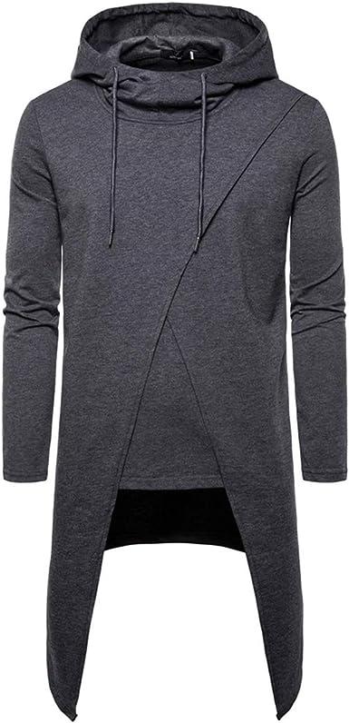 AOWOFS Men's Plain Hoody Stylish Hooded Sweatshirt