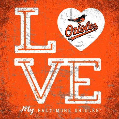 Baltimore Orioles Color Love My Team - ()