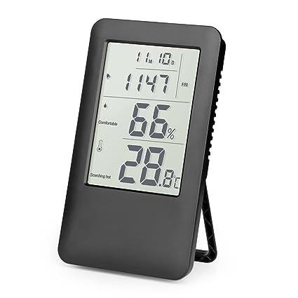 Termómetro Higrometro Digital, Hotchy Medidor de humedad Digital Termo-higrómetro Monitorización del aire interior