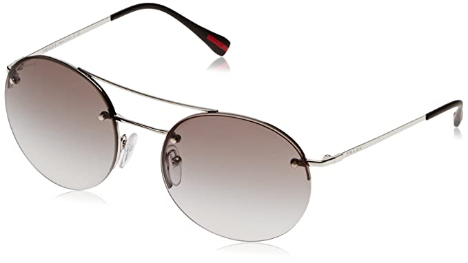 652bee299 Image Unavailable. Image not available for. Color: Prada Linea Rossa Unisex  PS 54RS Sunglasses Silver/Grey Gradient 56mm