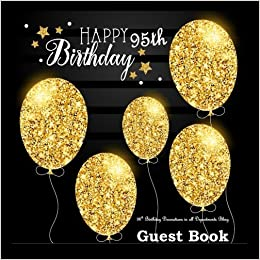 95th Birthday Decorations In All Departments Bling GUEST BOOK Classy Silver Inside Foil Fleur De Lis