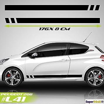 Supersticki Peugeot 208 Sport Rennstreifen Seitenstreifen
