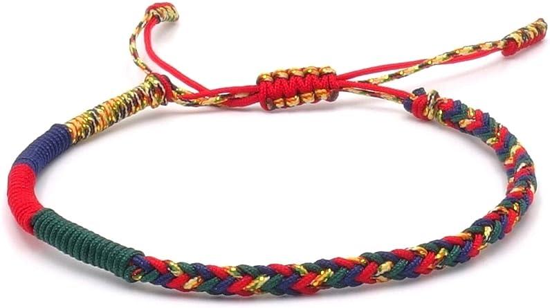 Pulsera de Benava tibetana para hombre y mujer – Pulsera de tela budista trenzada, multicolor: Amazon.es: Ropa y accesorios