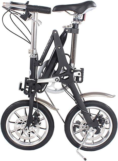 DRAKE18 Bicicleta Plegable, Mini Bicicleta Plegable 16 Pulgadas, 7 ...