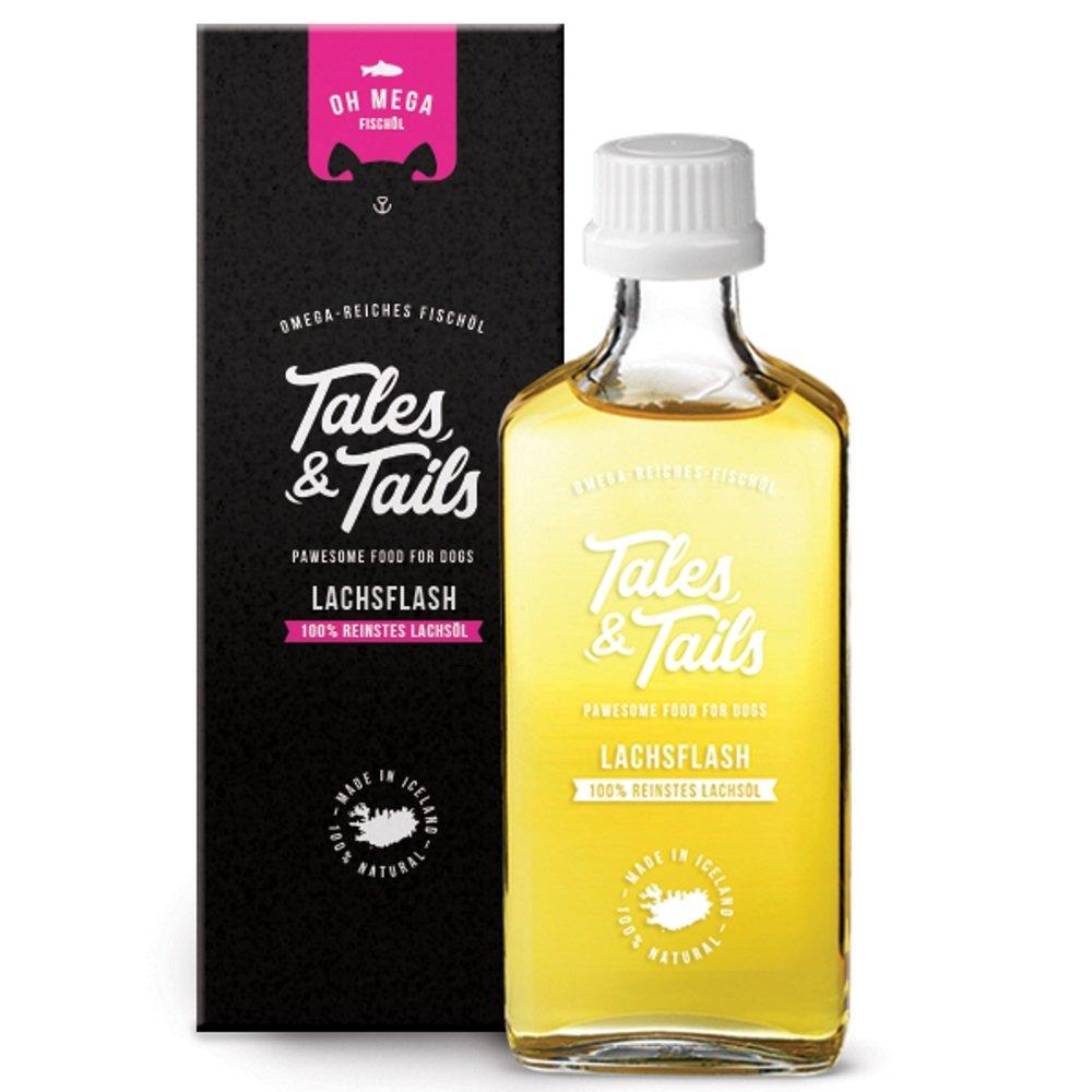 Tales & Tails - 100% Lachsöl für Hunde, Barf Öl, kaltgepresst, reines Naturprodukt, Fischöl, Ergänzungsfuttermittel Barf Öl Fischöl Ergänzungsfuttermittel