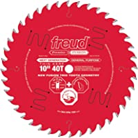 Freud 10 In. 40 Tooth Thin Kerf Premier Fusion General Purpose Saw Blade with 5/8 In. Arbor (P410T)