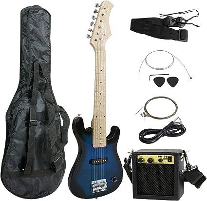 smartxchoices 30 cm niños guitarra eléctrica con amplificador de 5 ...