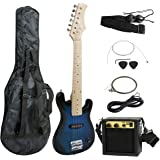 "Smartxchoices 30"" Kids Electric Guitar with 5W Amplifier,Picks, Gig Bag, Strap, Cable & Accessory Kit"