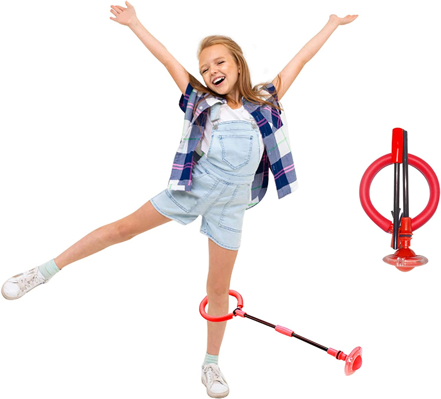 PALA PERRA Ankle Skip Ball for Kids Foldable Skipit Toy Swing Ball Fitness Sports for Boys and Girls Colorful Light Flashing Jumping Ring