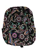 Vera Bradley Laptop Backpack (Updated Version) with Solid Color Interiors (Bandana Swirl)