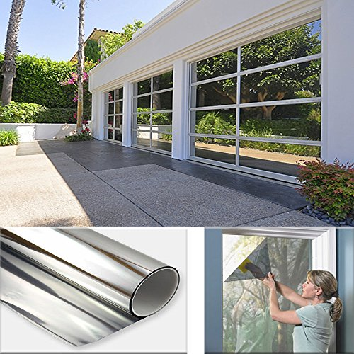 Sugo 3FT x 6FT Premium One Way Mirror Privacy Reflection Window Tint -