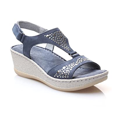 Chaussures Wenz bleues femme