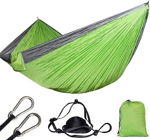 AFGH Hamaca 2 Personas paracaídas jardín Columpio Doble Hamaca Camping Tienda Supervivencia sueño: Amazon.es: Jardín