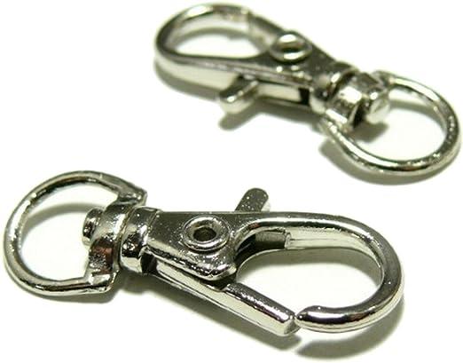 Llavero mosquetón de cierre para bisutería 15 unidades de Metal netproship: Amazon.es: Ropa y accesorios