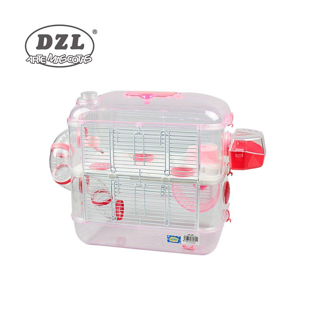 DZL Jaula para Hamster de plástico Duro, caseta Bebedero comedero Rueda Todo Incluido (1 Piso, 2 Piso, 3 Piso) (2 Piso, Verde Menta): Amazon.es: Productos ...