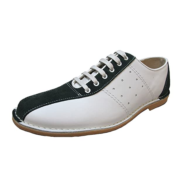 60s Mens Shoes | 70s Mens shoes – Platforms, Boots Delicious Junction Mens Watt Mod Skin Ska Bowling Shoe £69.95 AT vintagedancer.com