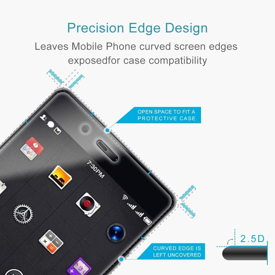 XHC Screen Protector Film 100 PCS Smartisan Nut Pro 0.26mm 9H Surface Hardness Explosion-Proof Non-Full Screen Tempered Glass Screen Film Tempered Glass Film