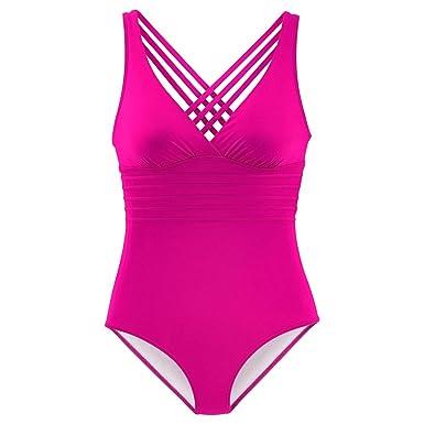 laamei Femme Plage Rétro Maillots de Bain 1 Pièce Amincissante Bikini Monokini Push-Up à Bretelles Grande Taille Parcourir À Vendre YJ6qf