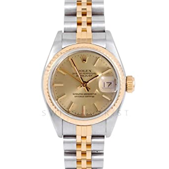 a098250c2418d Amazon.com  Rolex Datejust Swiss-Automatic Female Watch 69173 (Certified Pre -Owned)  Rolex  Watches