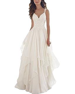Yilis Double V Neck Short Sleeve Lace Mermaid Beach Wedding Dress