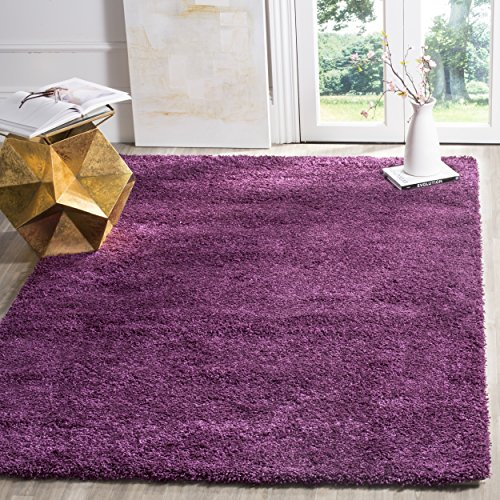 Safavieh california shag collection sg151 7373 purple area for Home accents rug collection